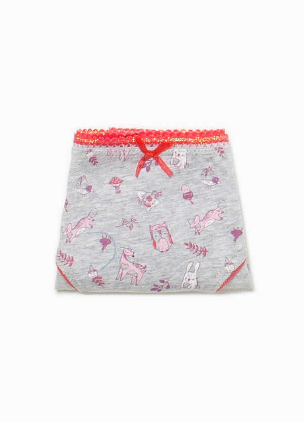 Slip cotone stretch fantasia animaletti | OVS
