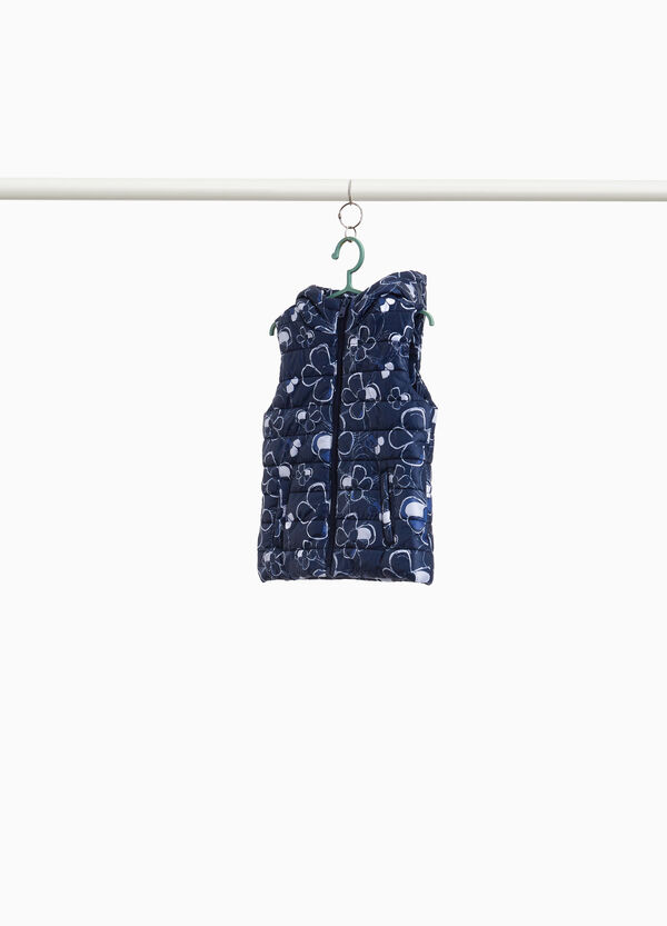 Quilted gilet with floral print