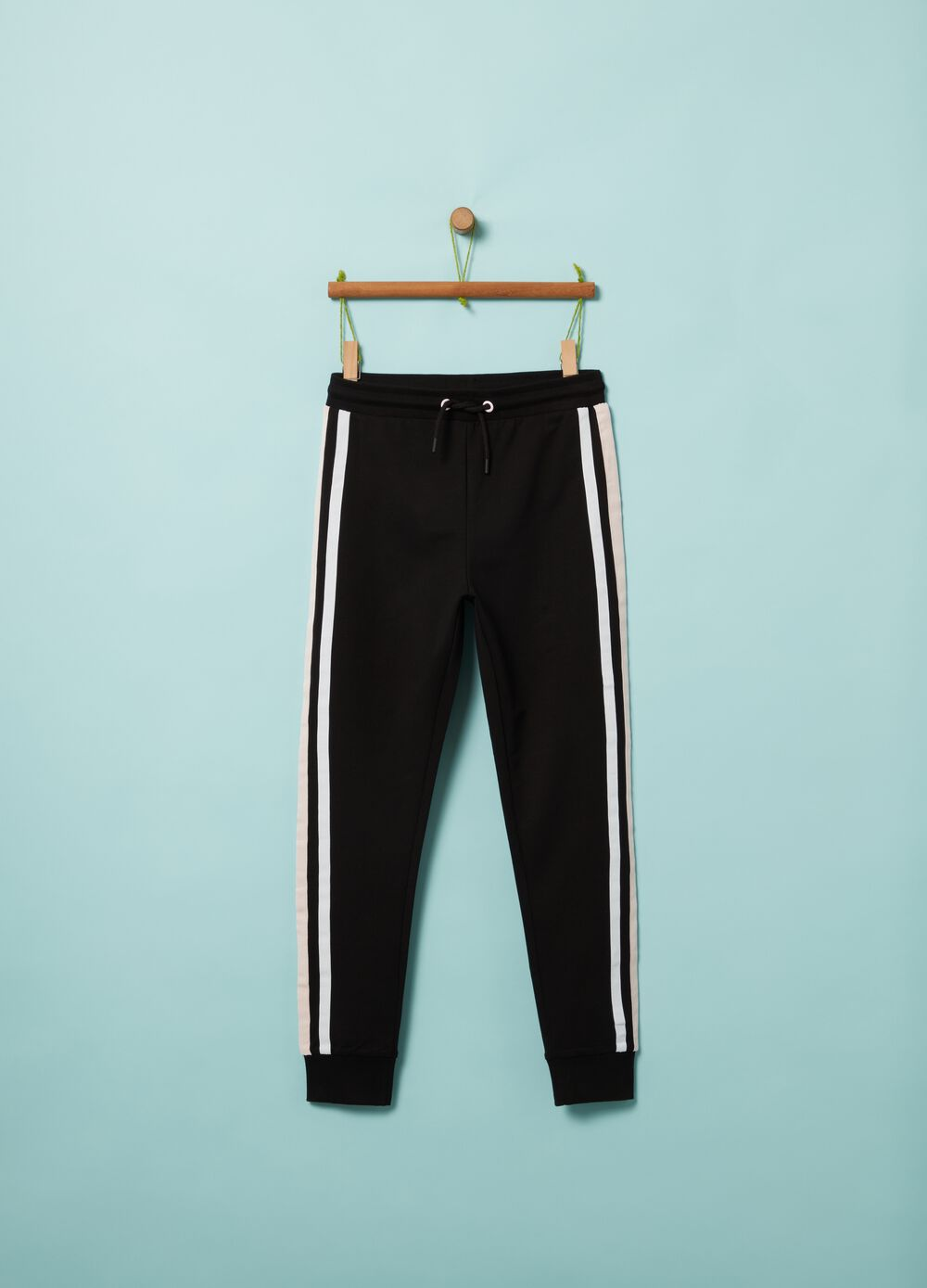 Stretch organic cotton joggers