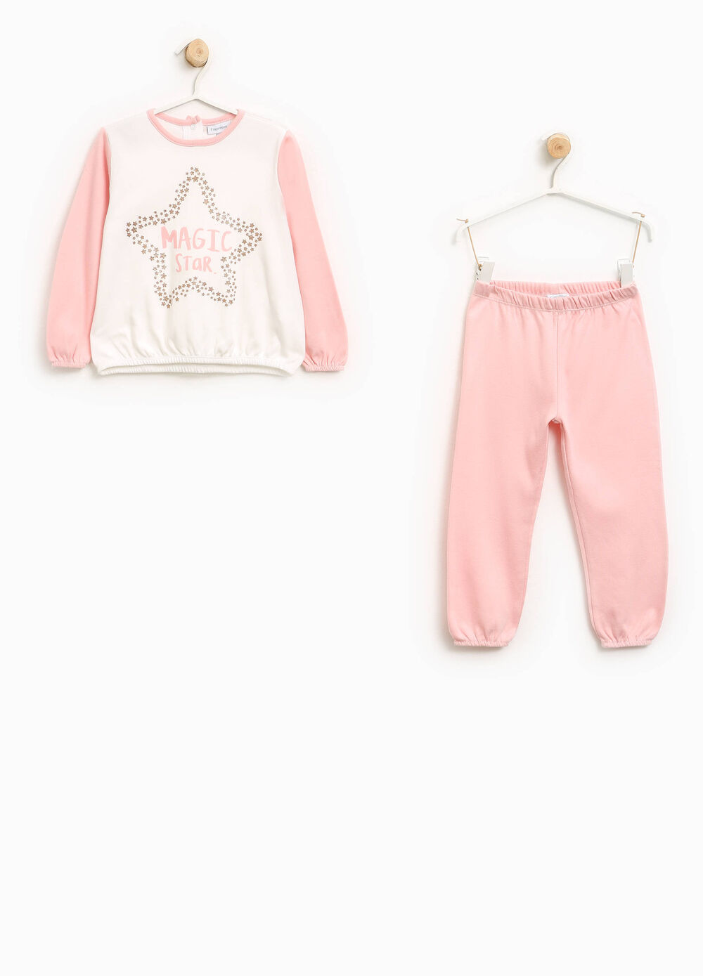 Pyjamas in 100% cotton with glitter print