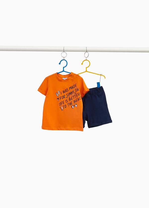100% cotton outfit with printed lettering