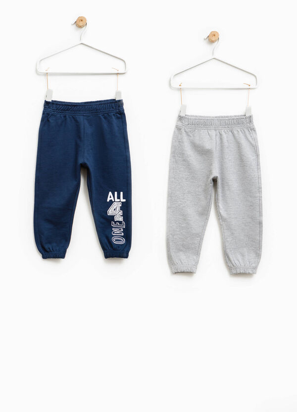 Two-pack joggers in 100% cotton | OVS