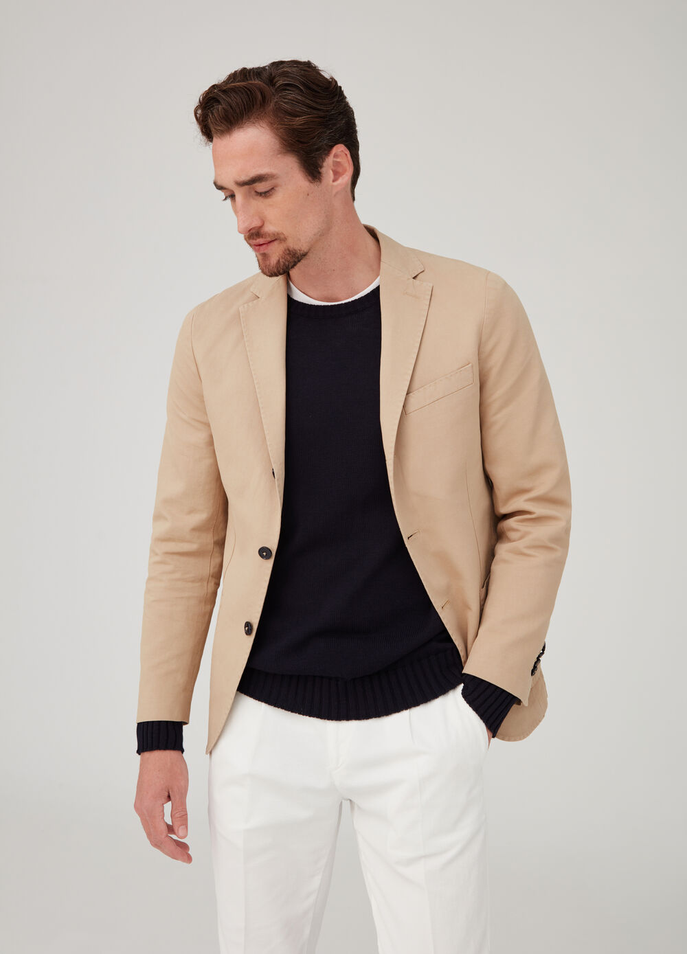 Rumford blazer with lapels and pockets