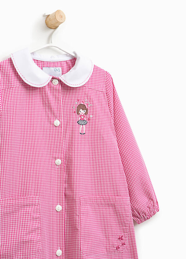 Micro check smock with embroidery | OVS