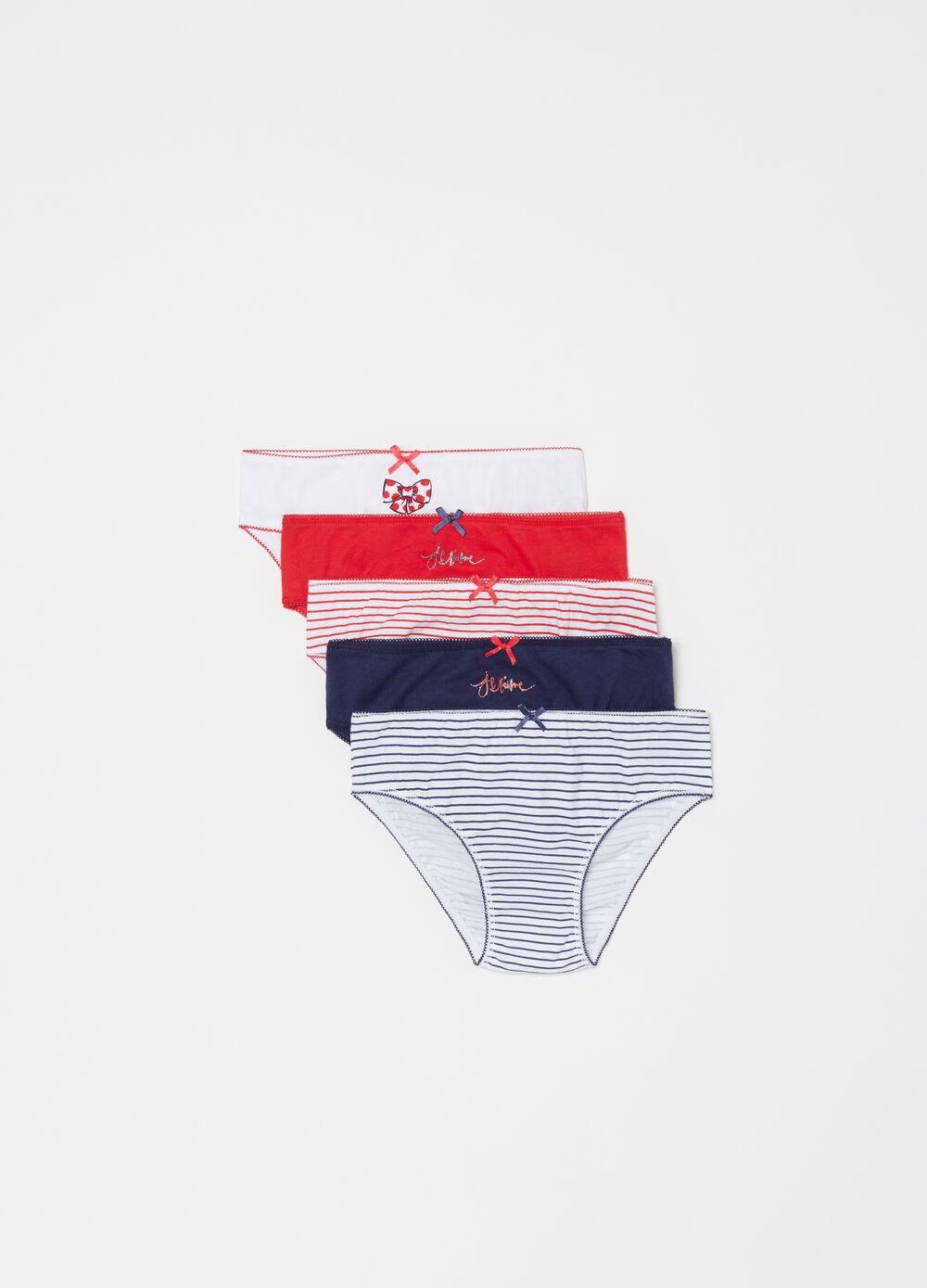 Five-pack briefs in 100% organic cotton