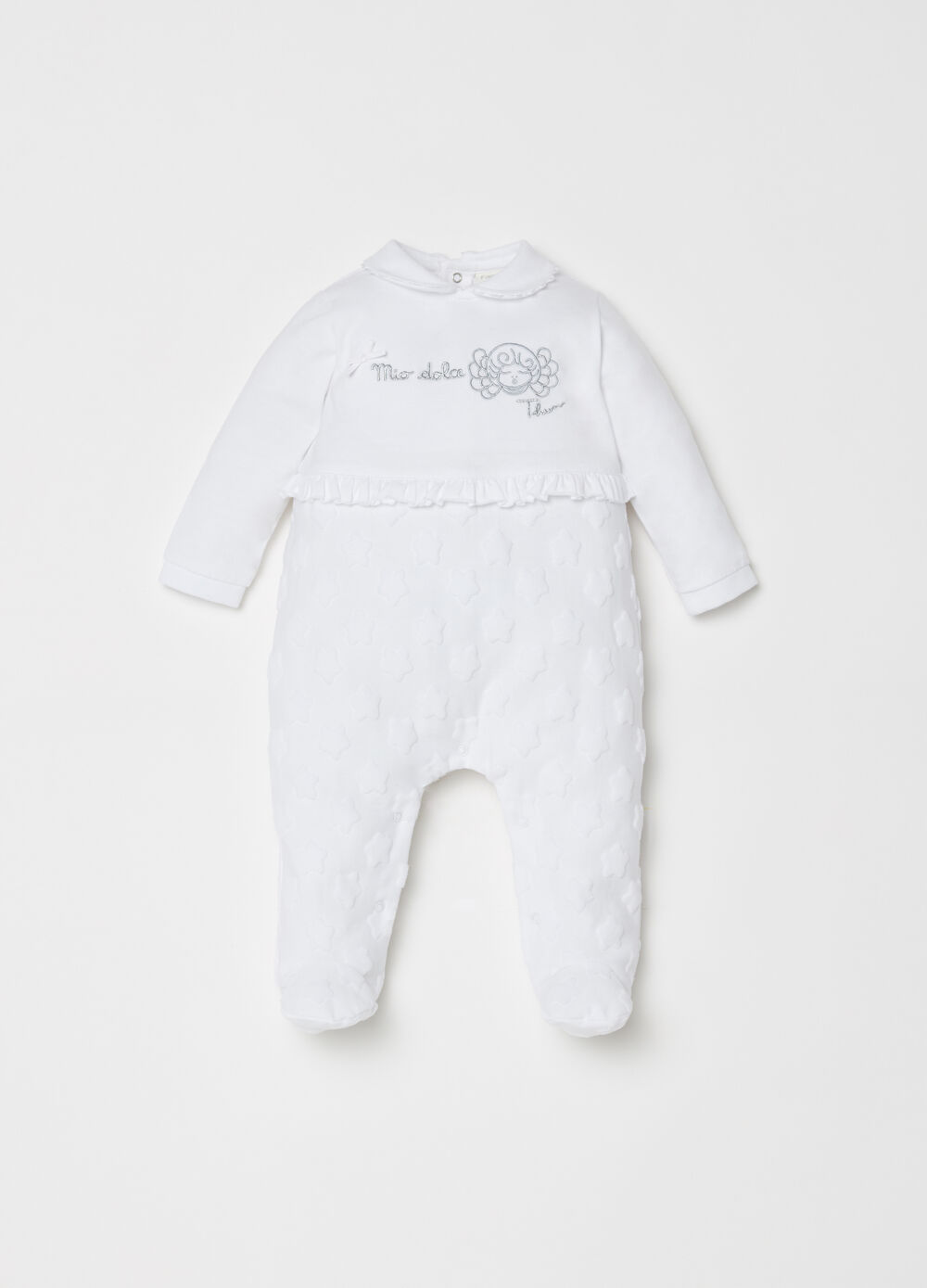 THUN onesie with feet and embroidery