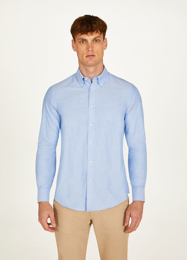 Slim-fit formal shirt in cotton blend