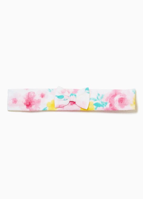 Floral hair band in 100% cotton
