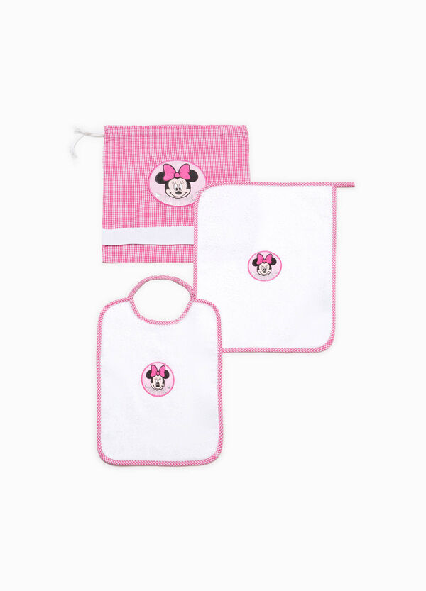 Cotton blend kindergarten set with Minnie Mouse patch | OVS