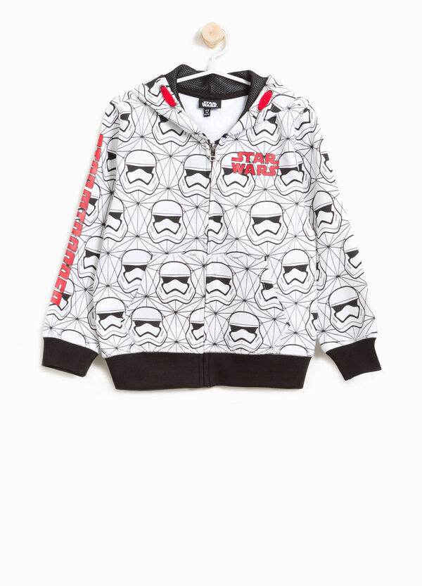 Cotton sweatshirt with Star Wars pattern and print | OVS