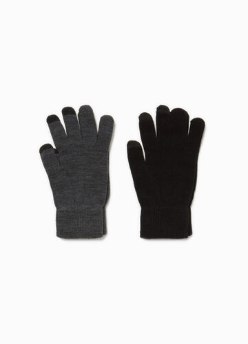 Two-pair pack touchscreen gloves
