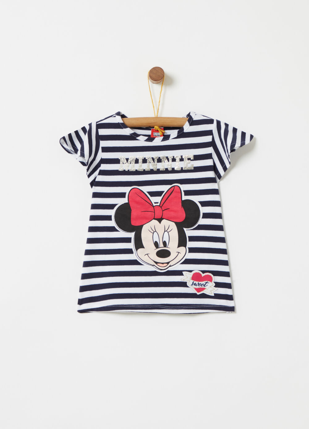Disney Minnie Mouse laminated gold T-shirt