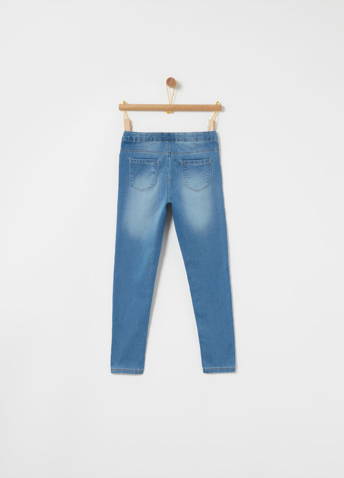 Superskinny jeans in stretch French terry