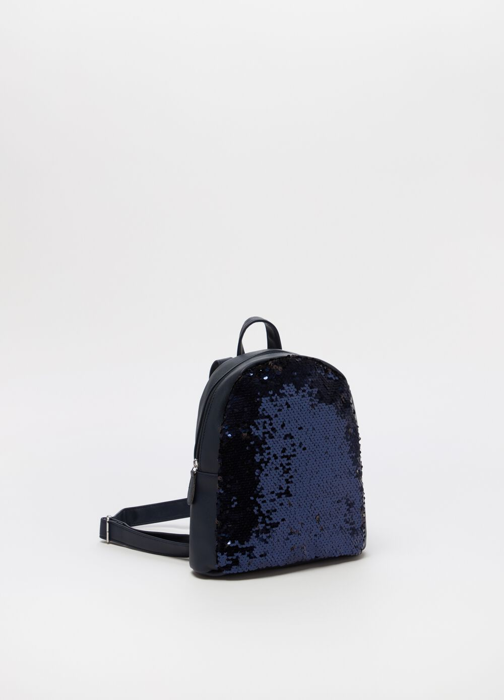 Backpack with sequins and zip