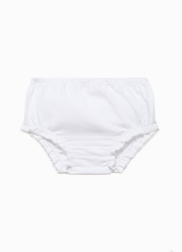 Briefs with flounces in cotton | OVS
