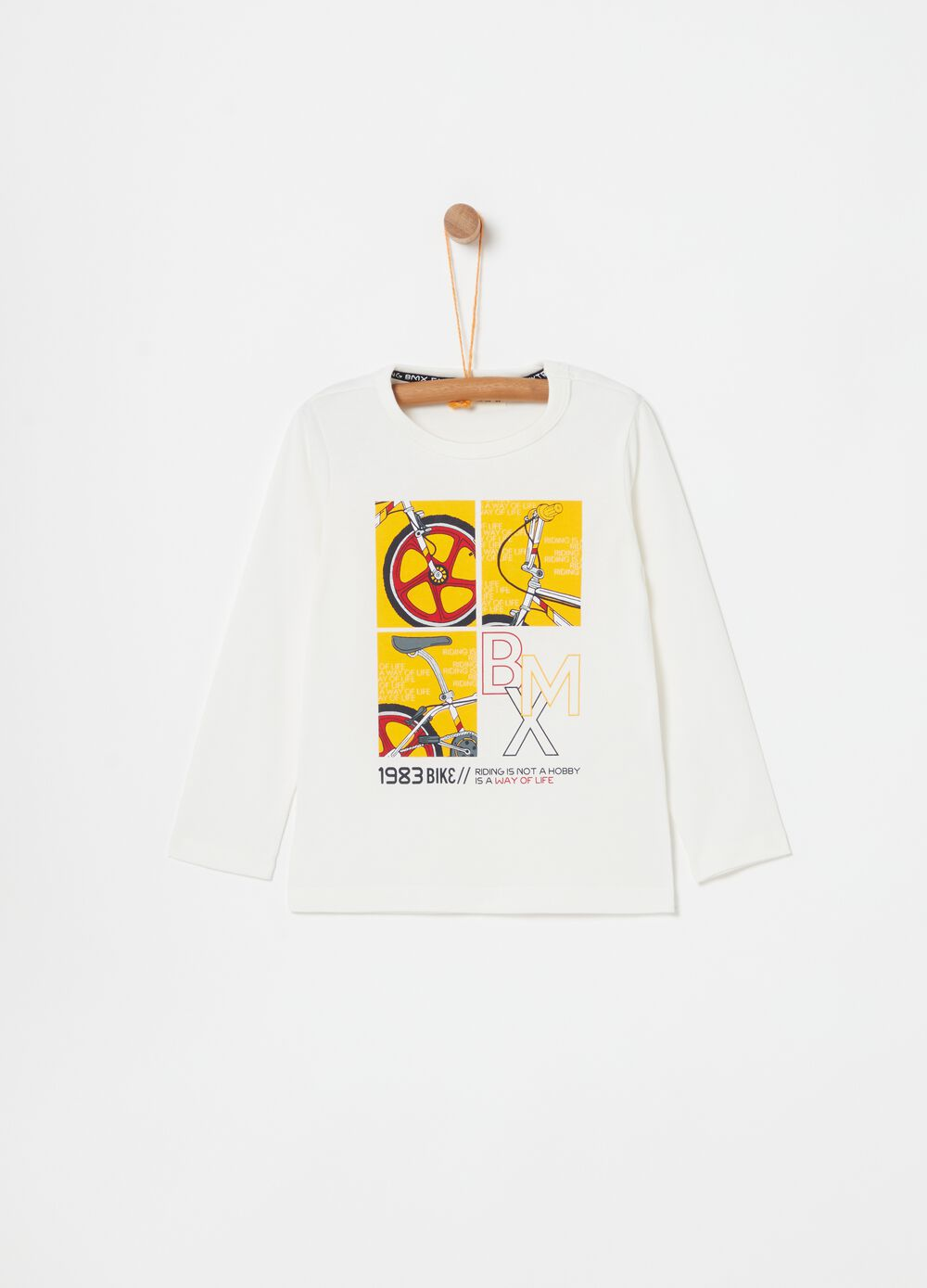 100% cotton T-shirt with bicycle print