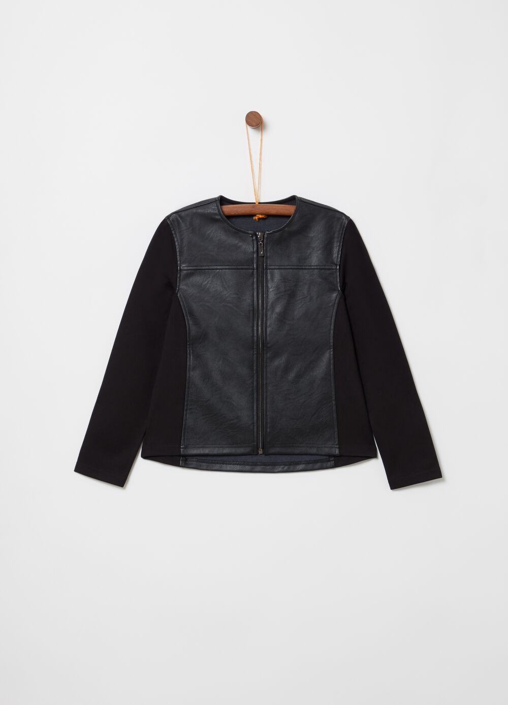 100% viscose leather-look jacket