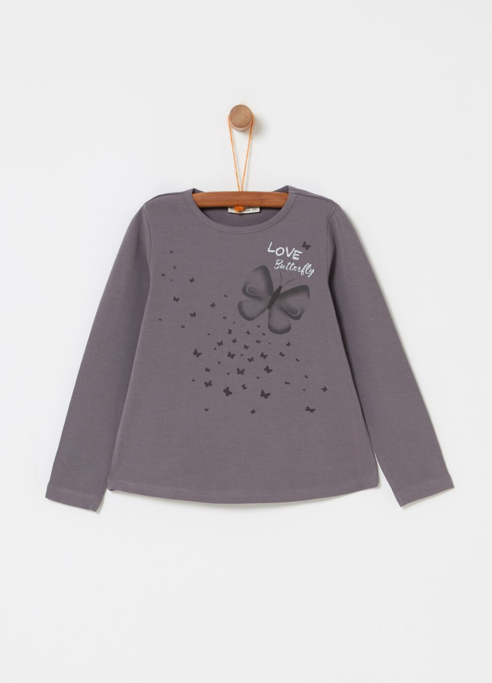 Long-sleeved T-shirt with print