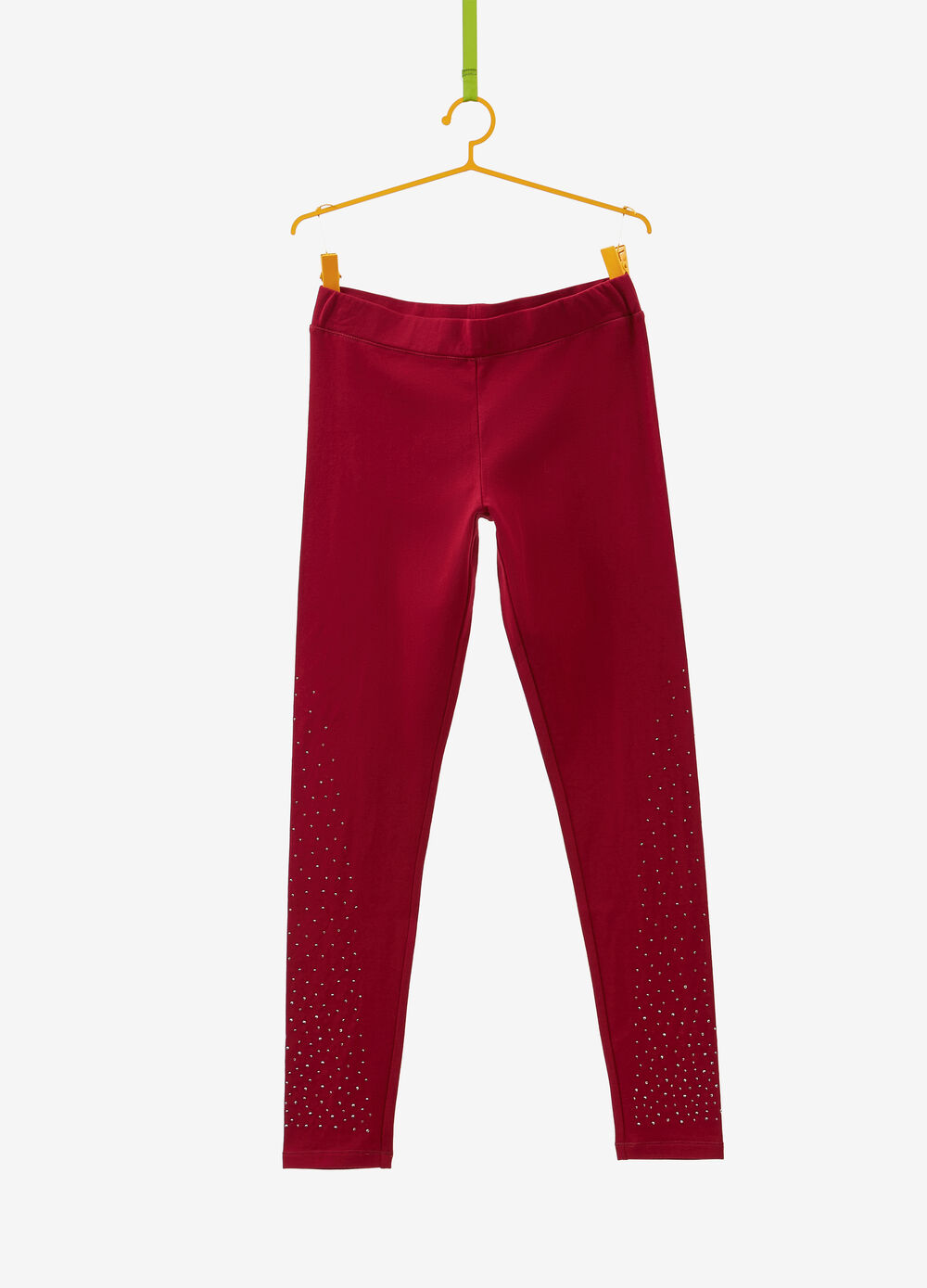 Cotton and viscose leggings with studs