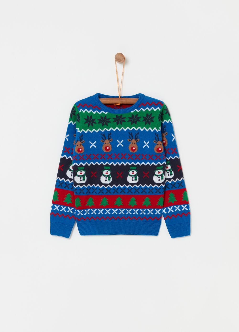 Top with round neck and Christmas pattern