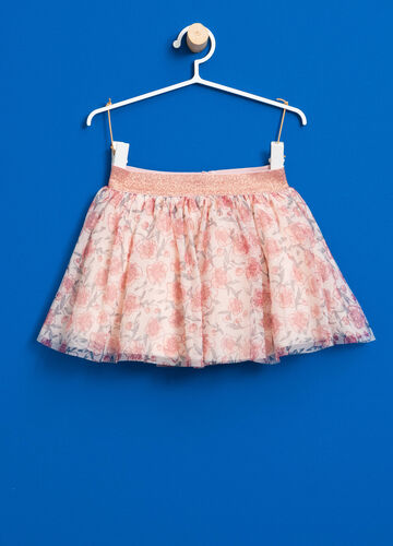 Floral tulle skirt with glitter waist