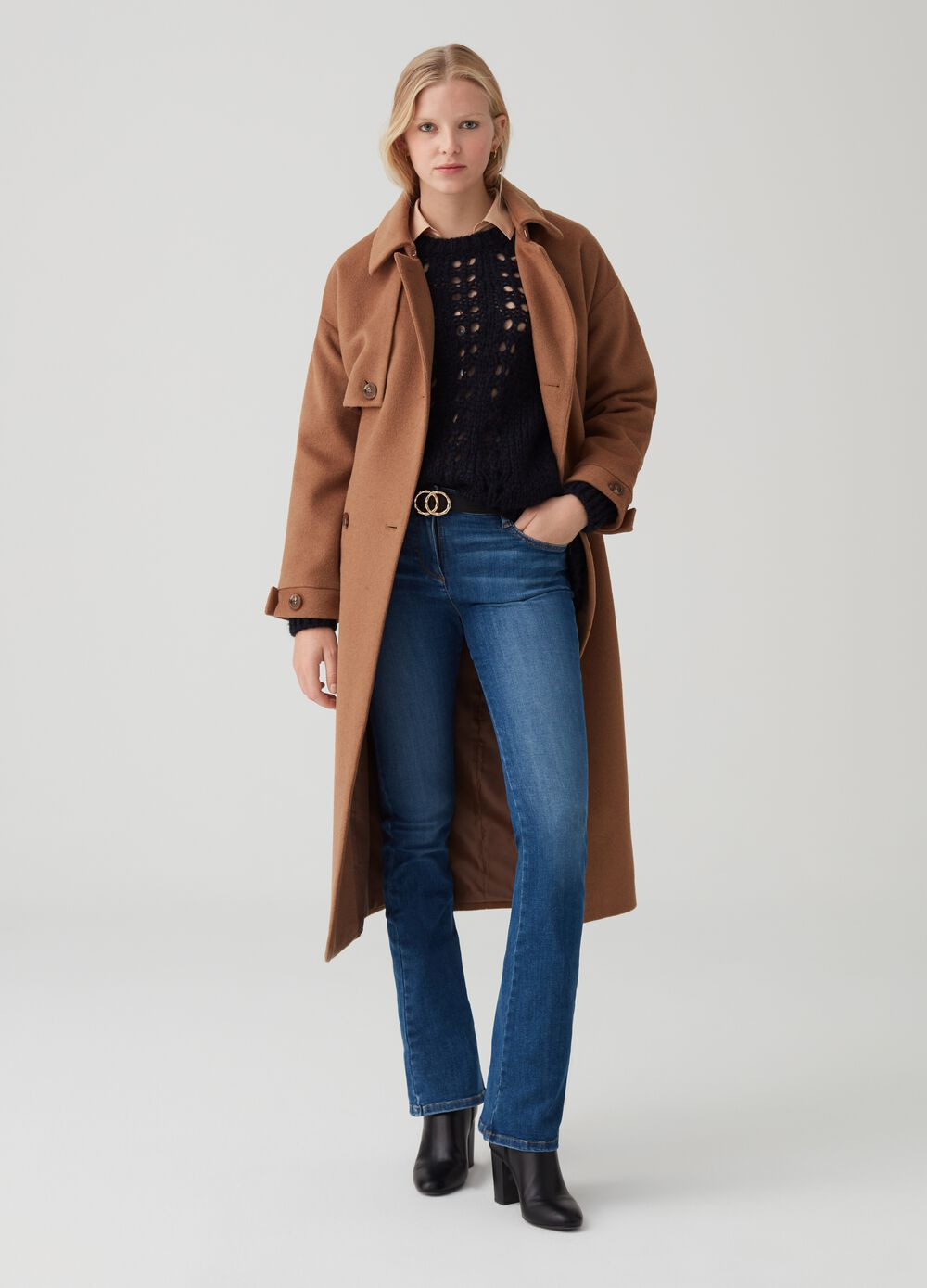 OVS Premium trench coat with bluff collar