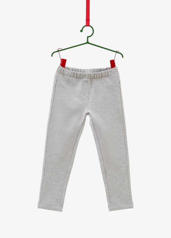 Stretch cotton joggers