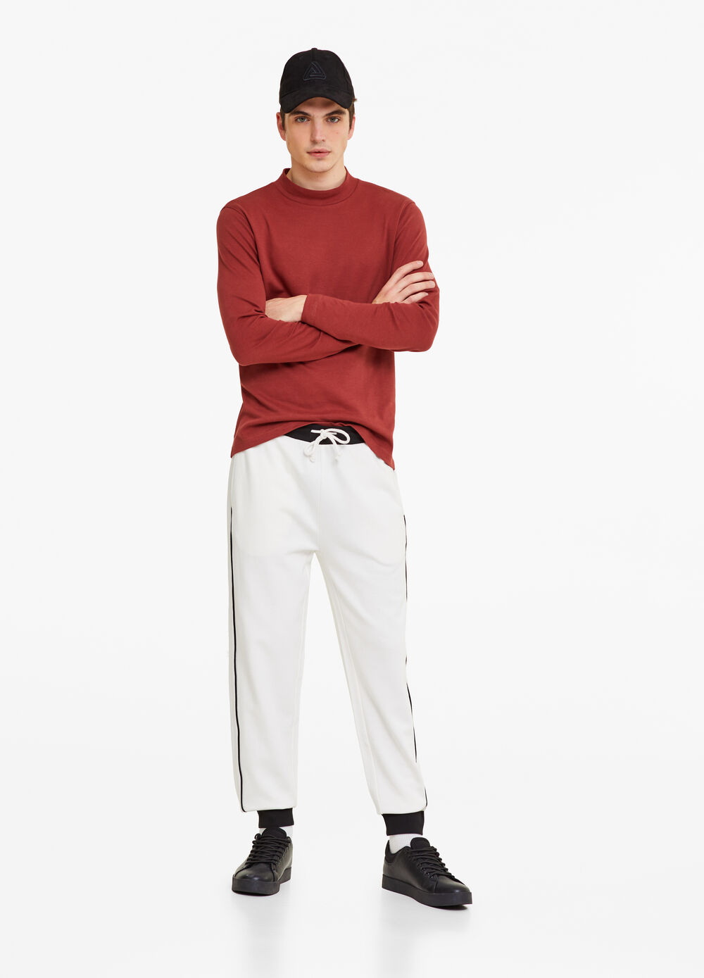 Trousers in 100% cotton fleece