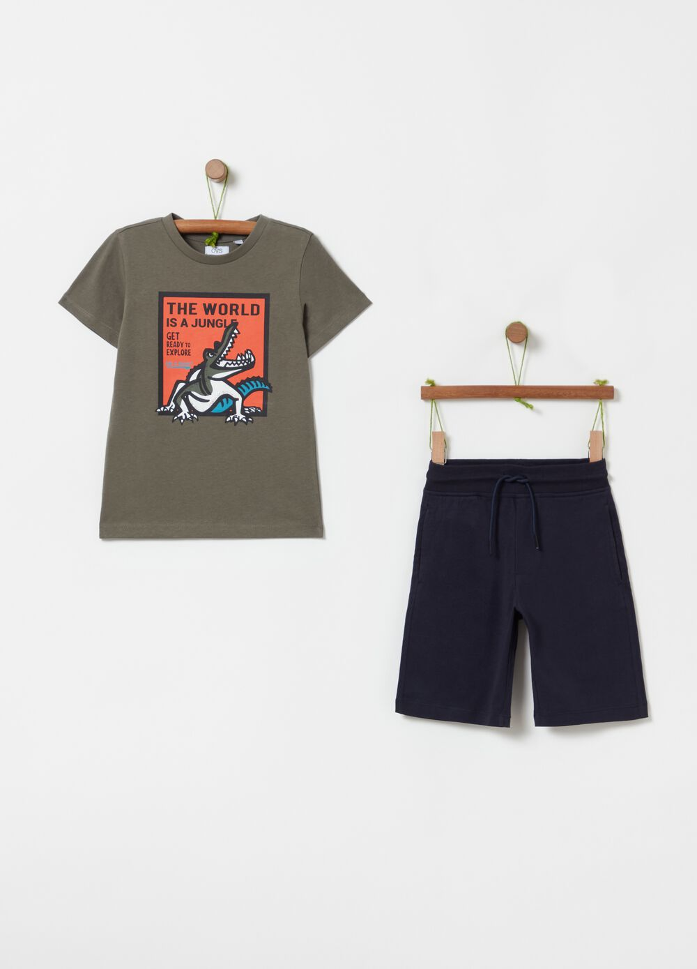 Jogging set in 100% cotton with print