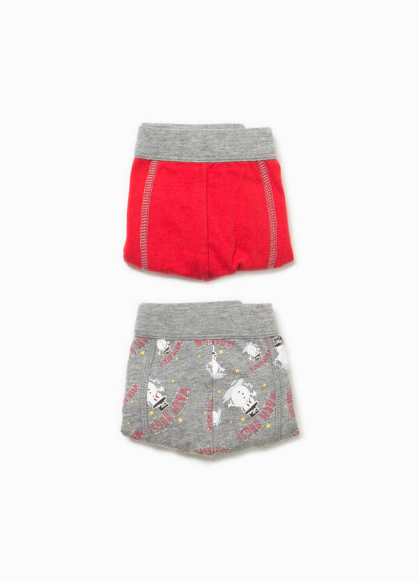 Two-pack solid colour and Christmas patterned boxer shorts | OVS