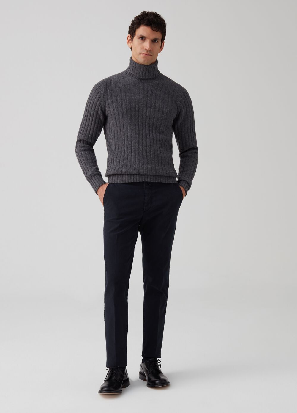 Rumford stretch tricotine trousers