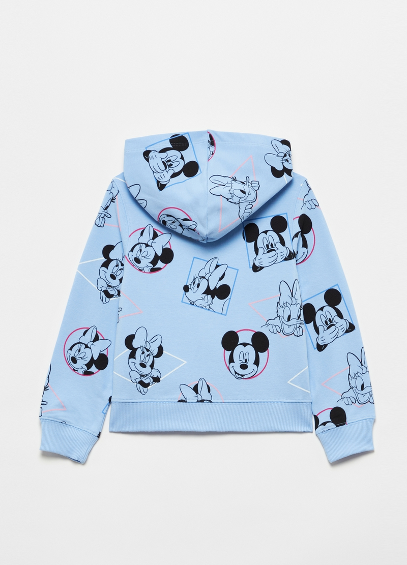Full-zip sweatshirt with hood and Disney characters image number null