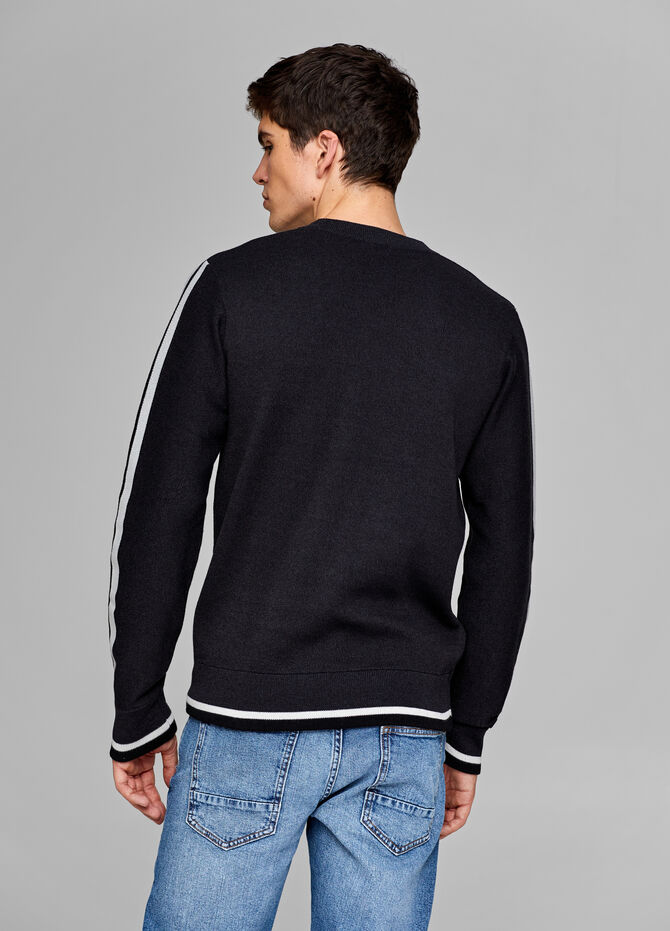 Viscose-blend pullover with bands