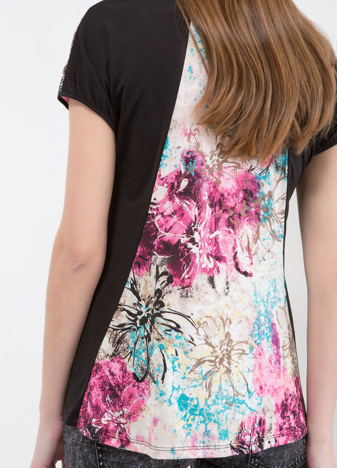 Stretch floral T-shirt