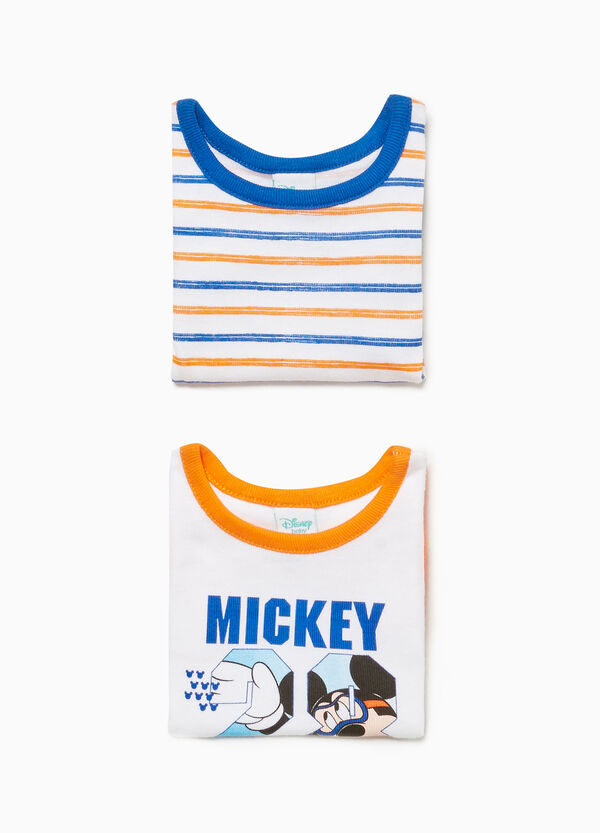Two-pack sleeveless Mickey Mouse bodysuits