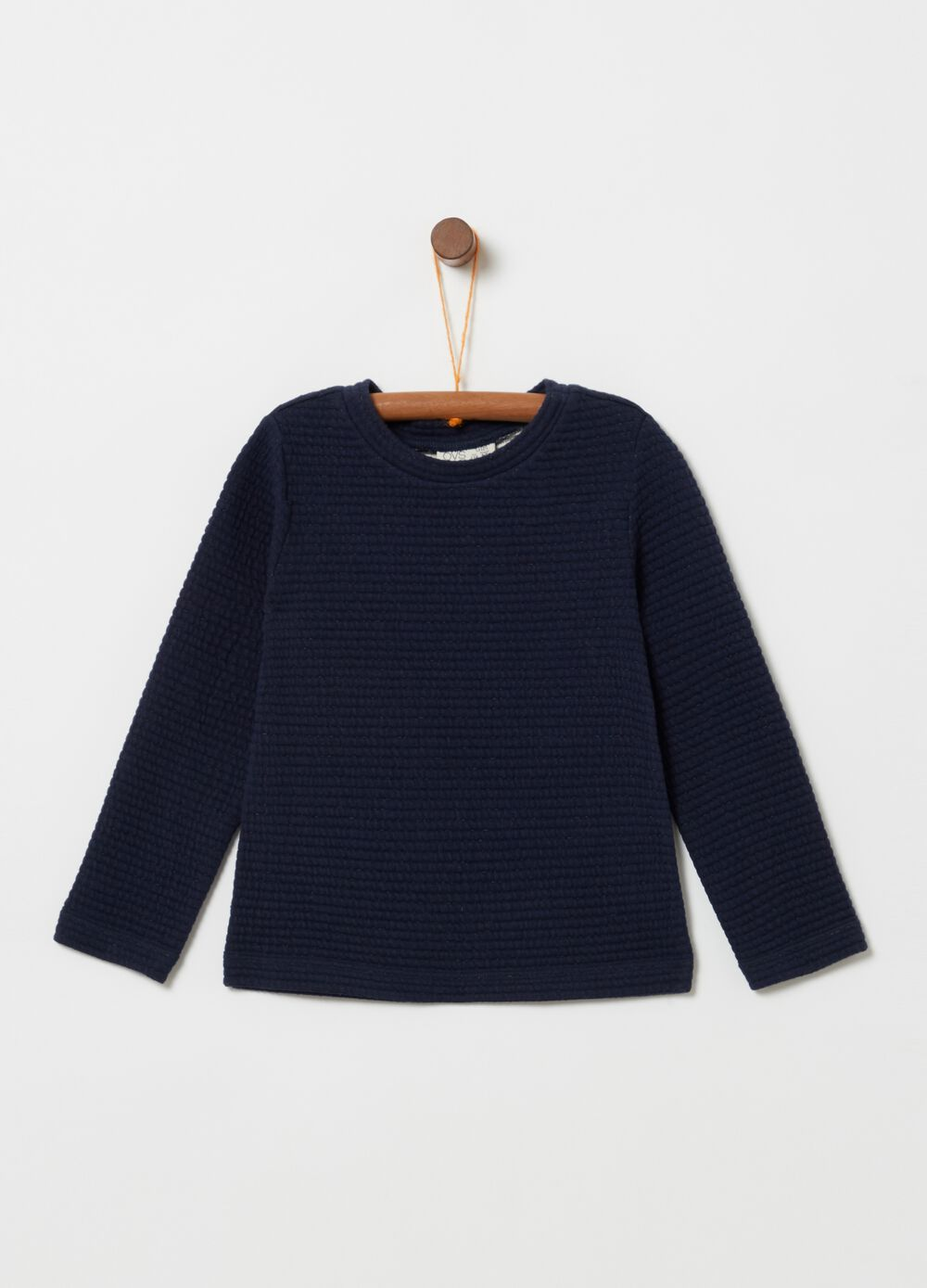 Sweatshirt with quilted-effect lurex