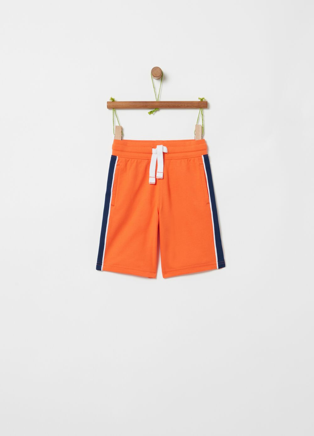 Bermuda shorts in French Terry with pockets