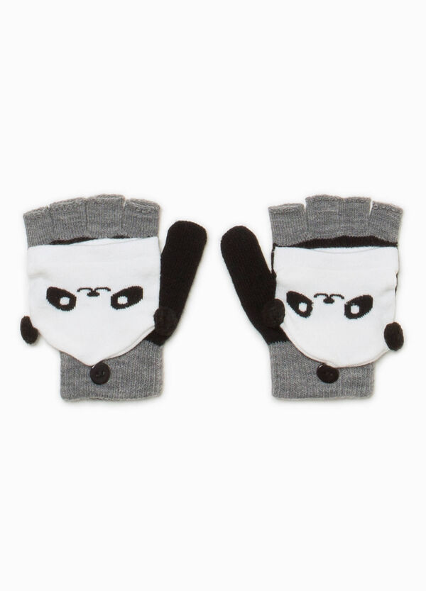 Fingerless gloves with panda mittens | OVS