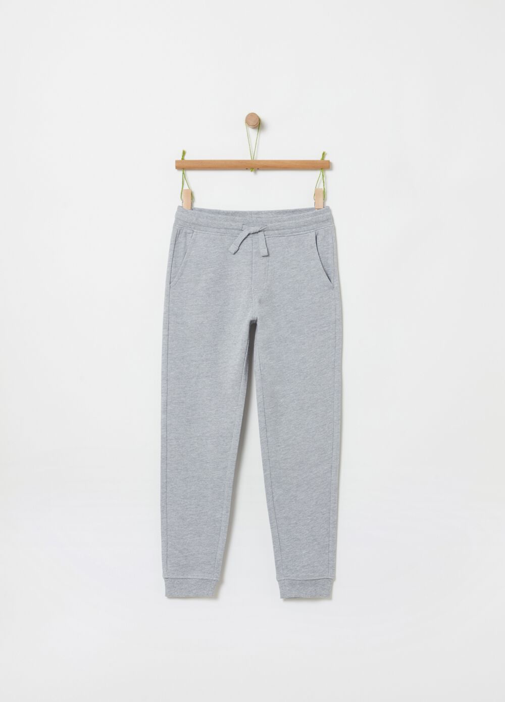 Fleece jogger trousers