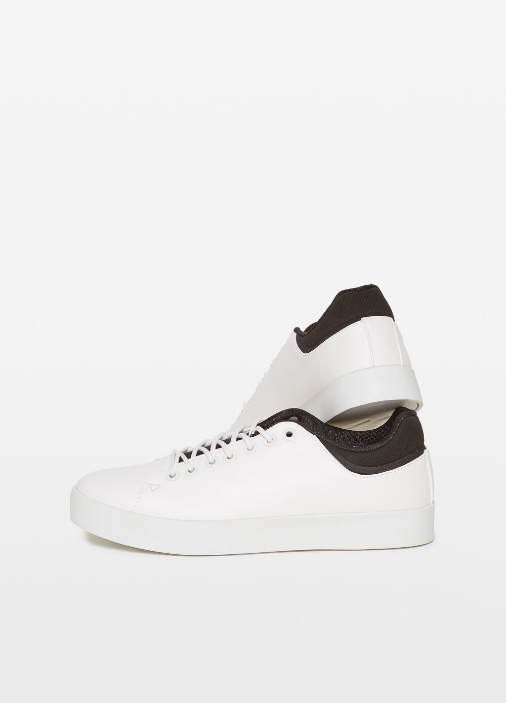 Textured-effect rubber sneakers