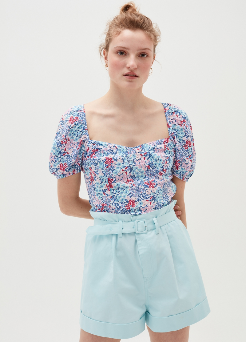 Baby Angel floral top in viscose image number null