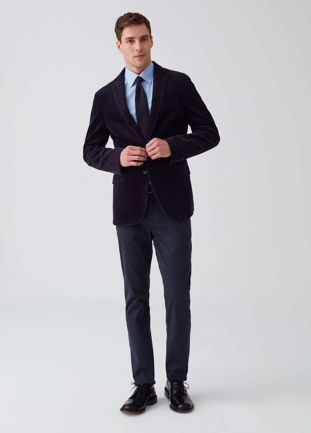 Slim fit, stretch cotton chino trousers