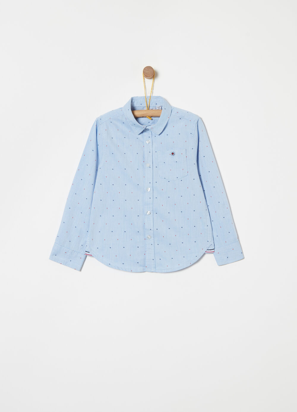 Oxford shirt with all-over print