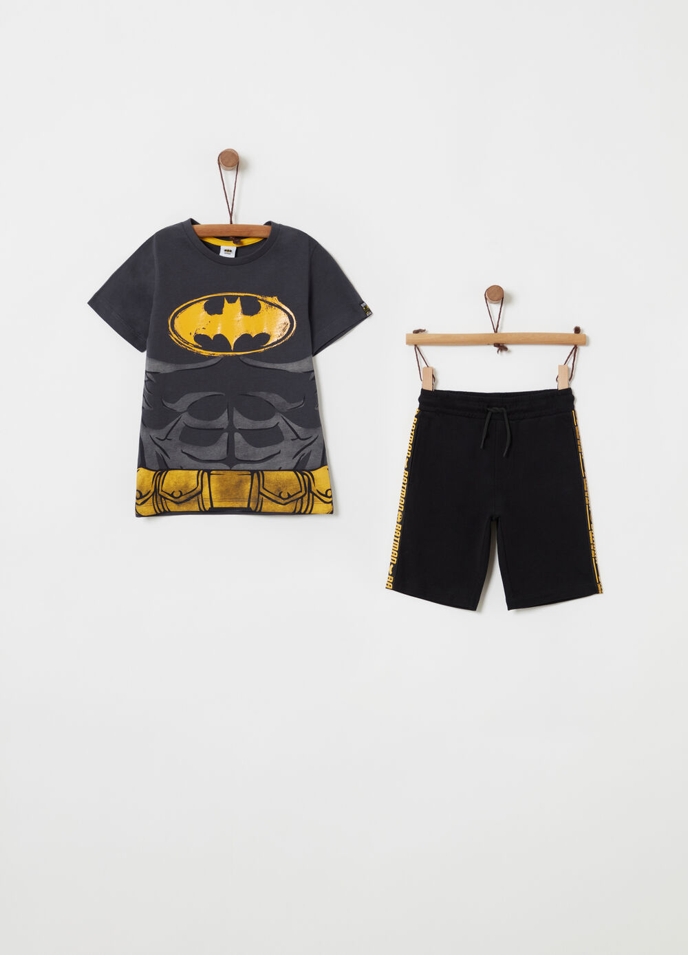 Pack camiseta y shorts estampado Batman
