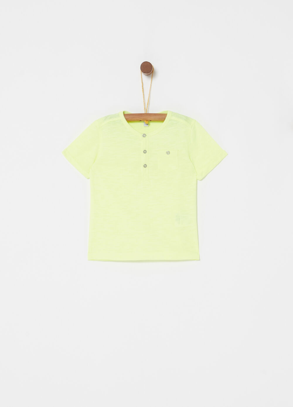 Cotton blend T-shirt with pocket