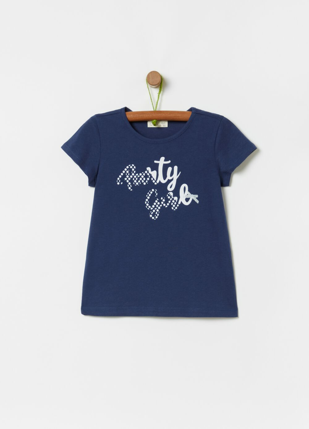 T-shirt in 100% cotton with glitter bows