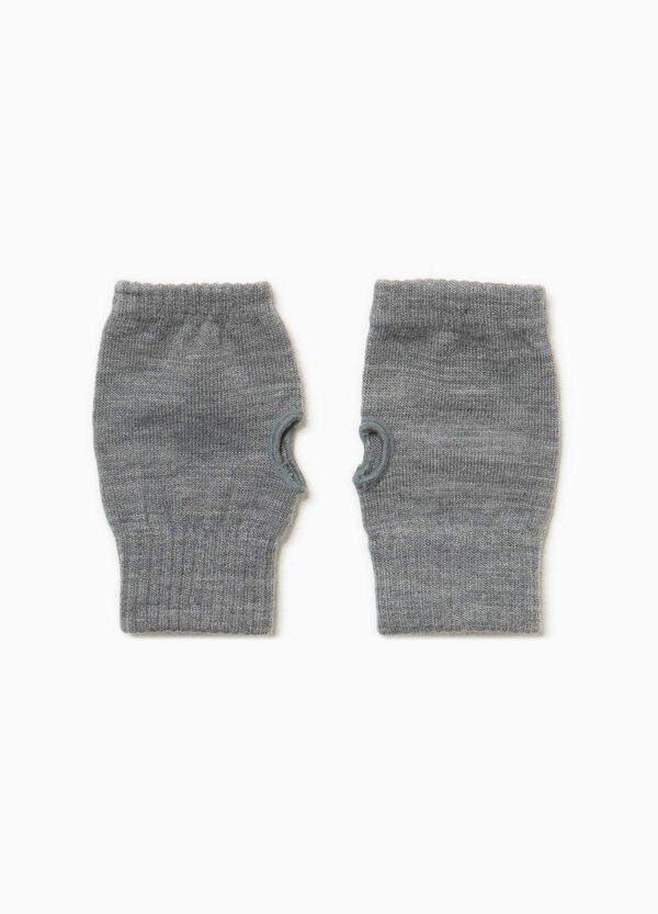 Solid colour mittens with opening   OVS