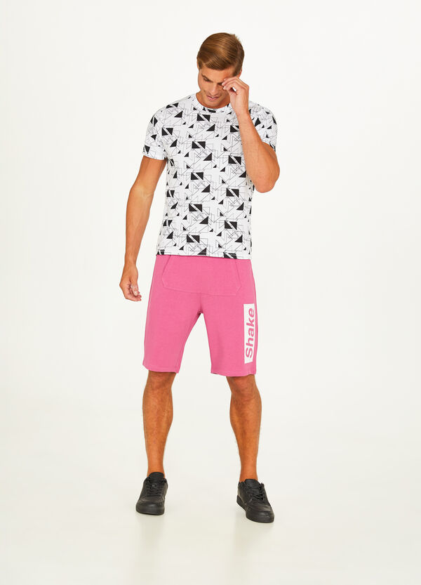 100% cotton Bermuda shorts with pouch pocket