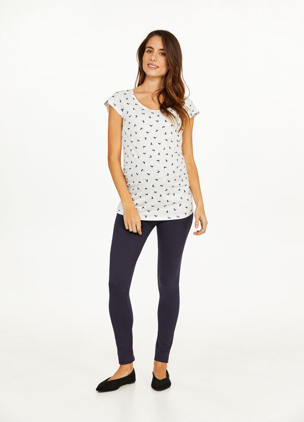 MUM leggings in stretch cotton