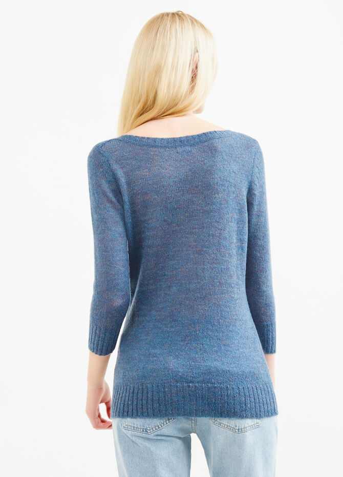 Knitted mohair wool and viscose pullover